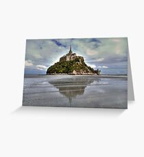 Mont Saint Michel Viewed by the Bay   Greeting Card