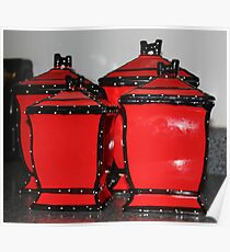 Canisters in Red Poster