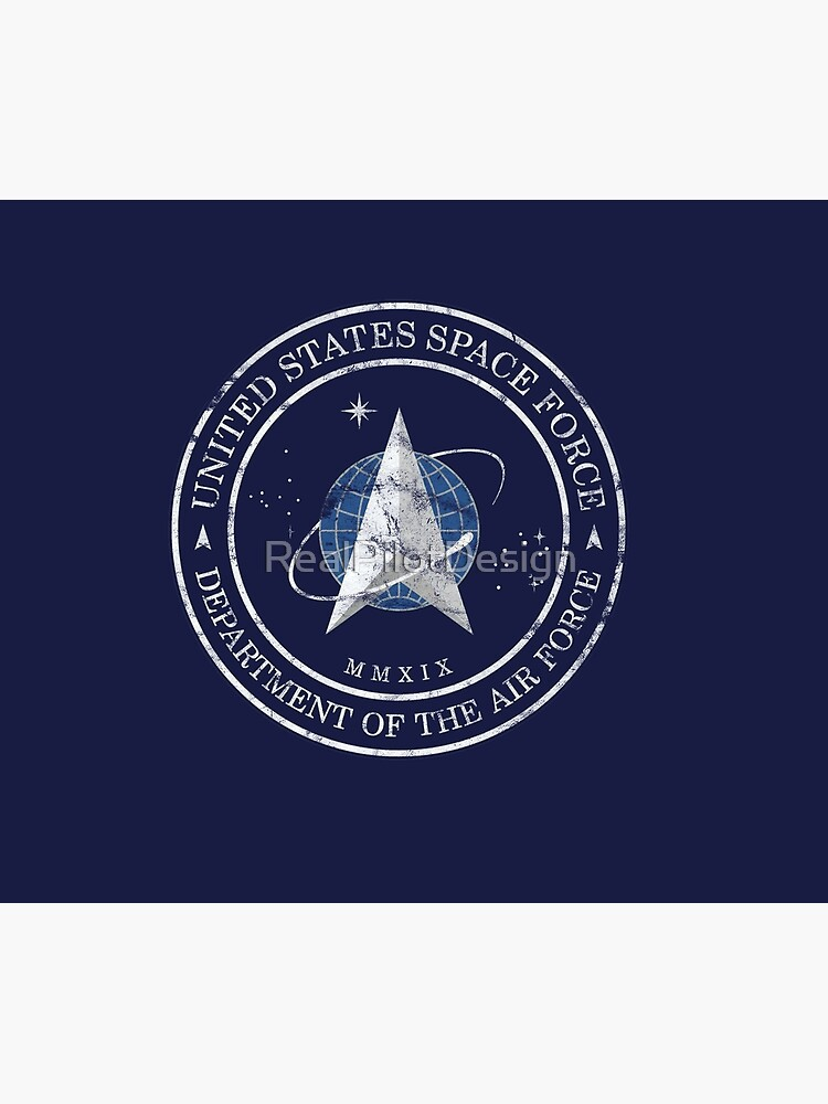 US Space Force USAF Distressed Insignia by RealPilotDesign
