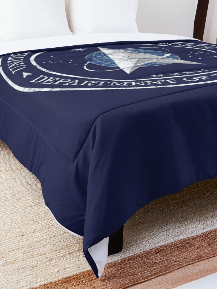 Alternate view of US Space Force USAF Distressed Insignia Comforter