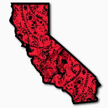 Cali With Red Bandana by SheaClothing