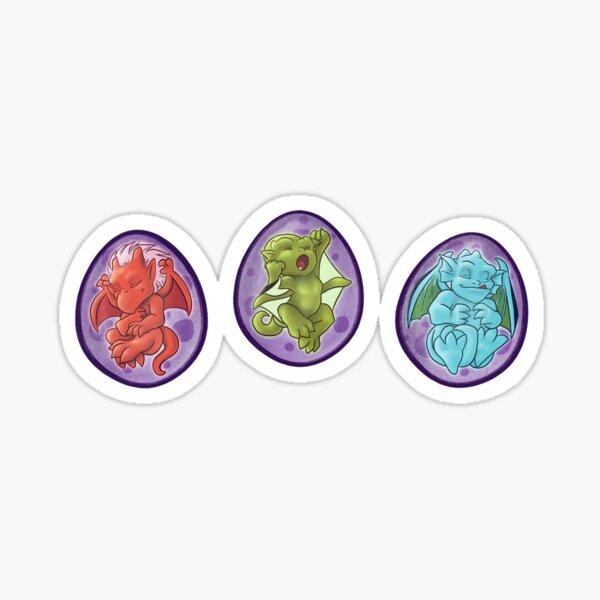 Trio of Gargoyle Eggs Sticker Set Sticker
