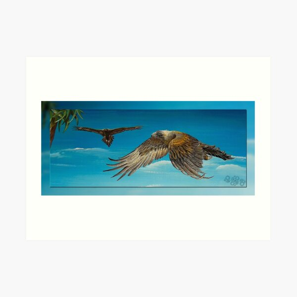 MICRO TALE ~ CRITTERS ~ GALERIEBORD ~ Goldie the Eagle by tasmanianartist 210120 Art Print