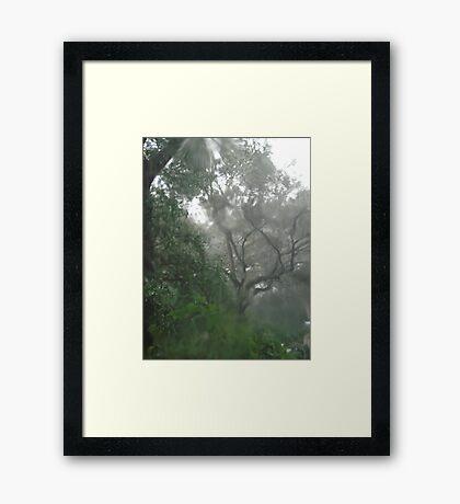 THROUGH TEARS OR RAIN, IT'S ALL THE SAME Framed Print