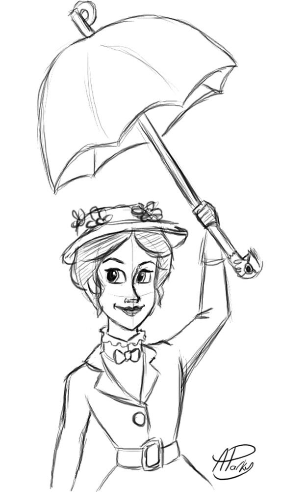 Mary Poppins Sketch by APParky