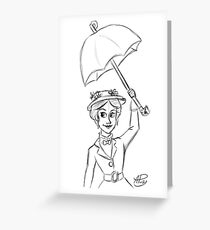 Mary Poppins Sketch Greeting Card