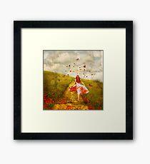 Her Yellow Brick Road Framed Print