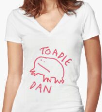 Toadie Dan Women's Fitted V-Neck T-Shirt