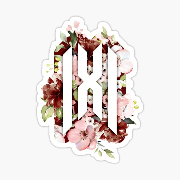 Monsta X Floral 2 Sticker