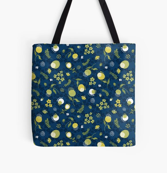 Zesty Floral pattern All Over Print Tote Bag
