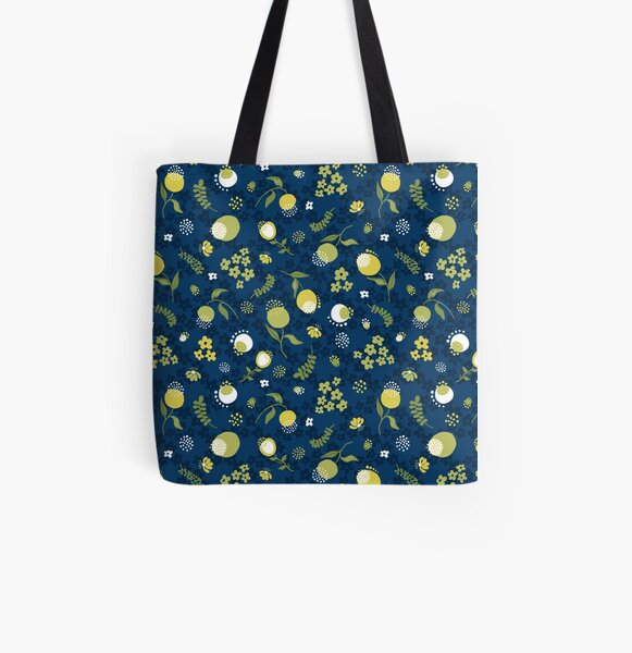 Zesty Floral All Over Print Tote Bag