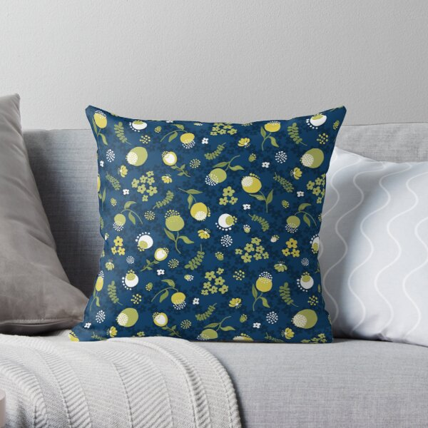 Zesty Floral Throw Pillow