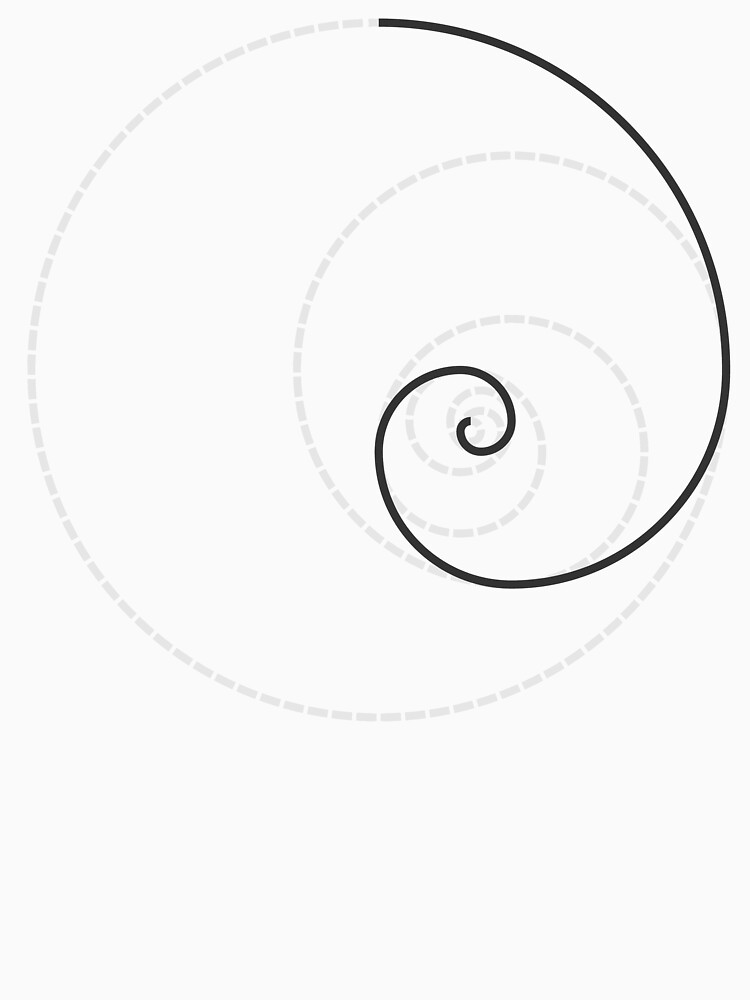 Golden Ratio Spiral - Construction Circles by joshdbb