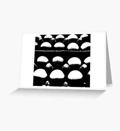 egg abstract Greeting Card