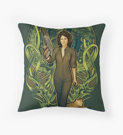 Come On, Cat Throw Pillow