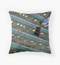 Cubicle City Throw Pillow