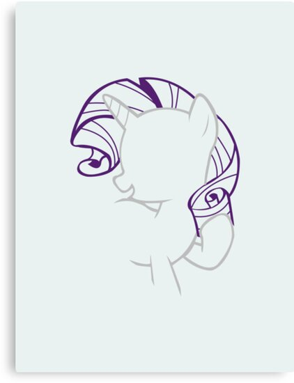 Rarity Outline. by LcPsycho