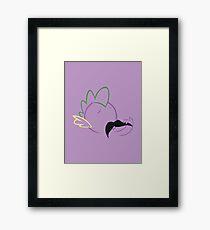 Spike Moustache Outline Framed Print