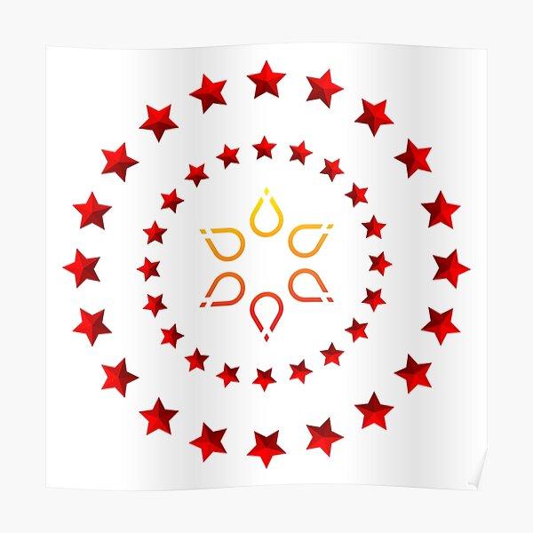 Circle design of star's Poster