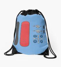 skateboarding kit Drawstring Bag