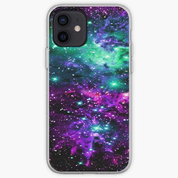 Fox Fur Nebula Mint Purple Pink iPhone Soft Case