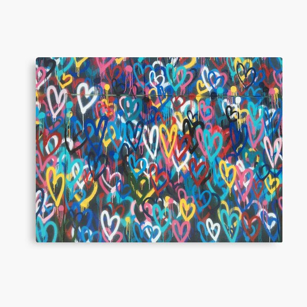 Spray Painted Hearts Canvas Prints Redbubble