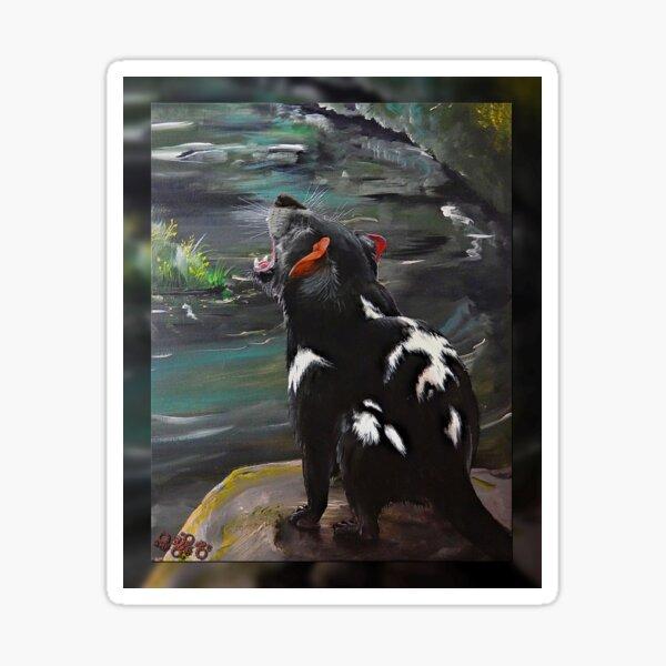 MICRO TALE ~ CRITTERS ~ GALERIEBORD ~ Night Growl by tasmanianartist 250120 Sticker