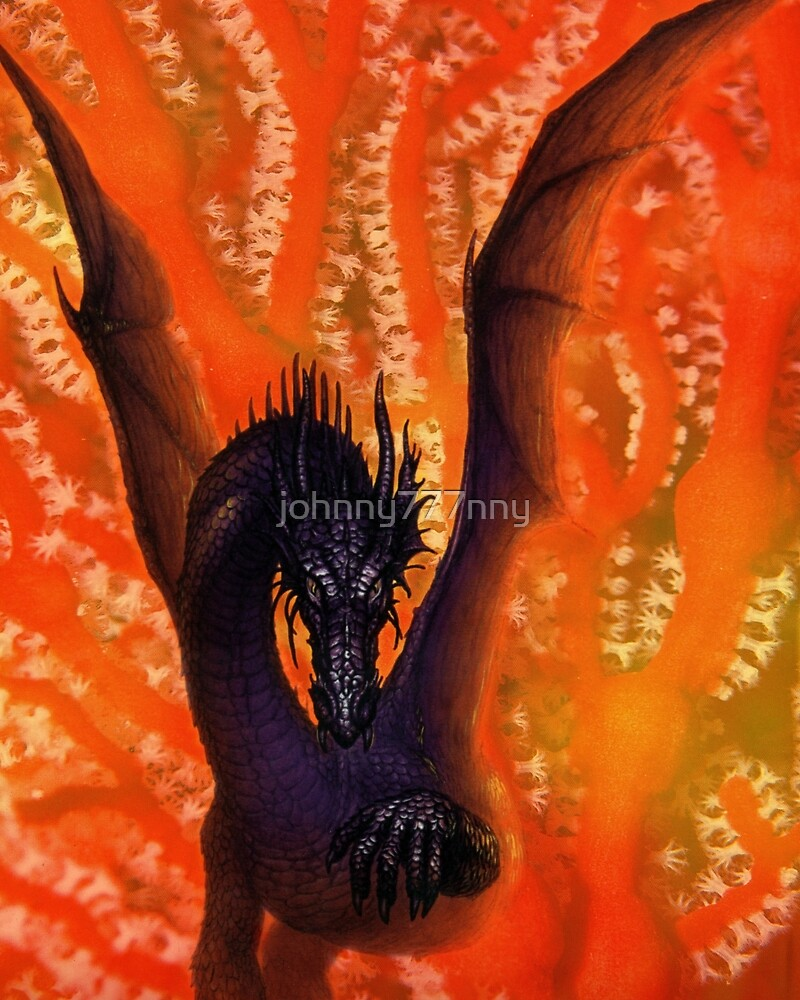 Dragon in Coral by johnny777nny