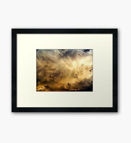 Raging Storm Cell Framed Print