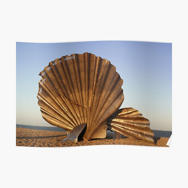scallop in Aldeburgh Suffolk Poster