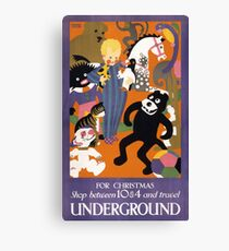 London Underground Vintage Transportation Poster Canvas Print