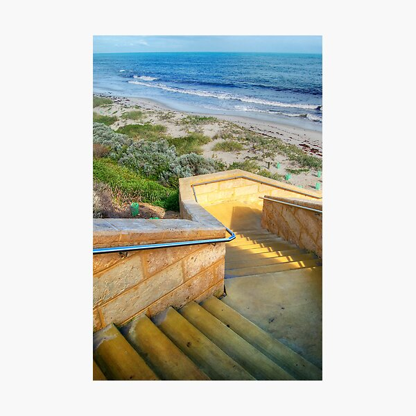 Seaside Stairs # 2 Photographic Print