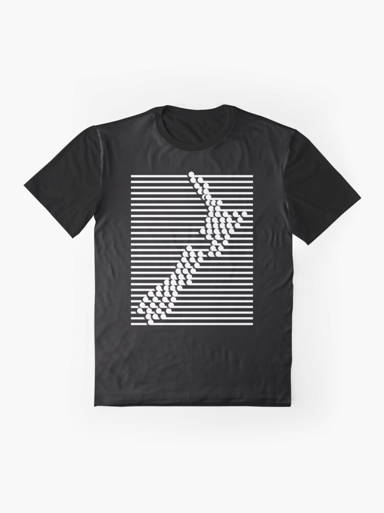 Alternate view of NZ Maori Style Map Graphic T-Shirt
