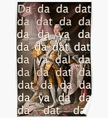 You'll be Back Hamilton King George III Da dat Poster
