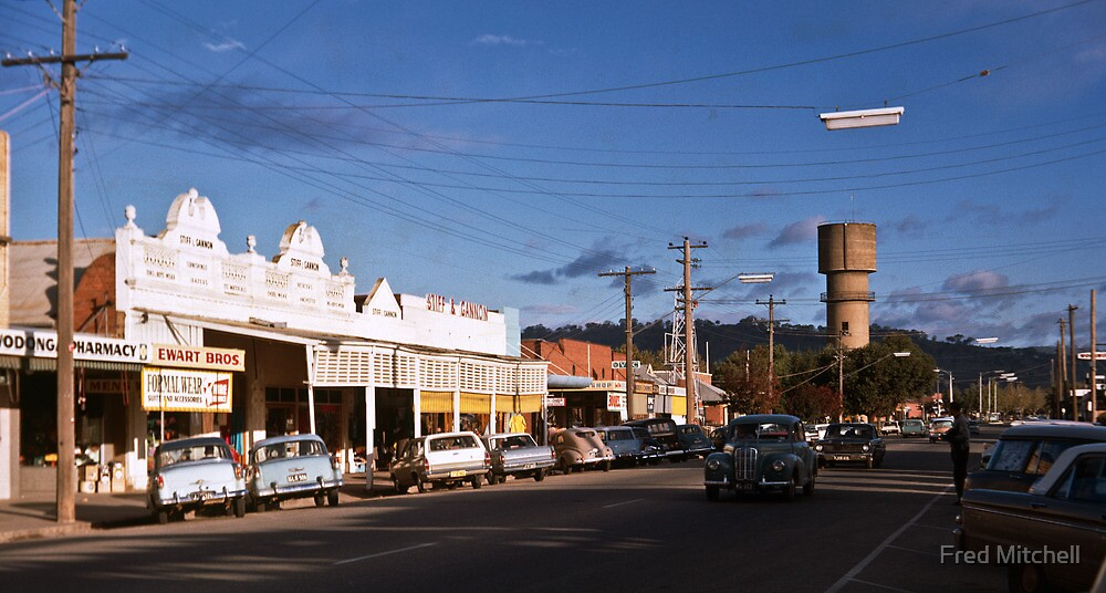Main st Wodonga from Melbourne road to Water Tower 19680502 0002 by Fred Mitchell