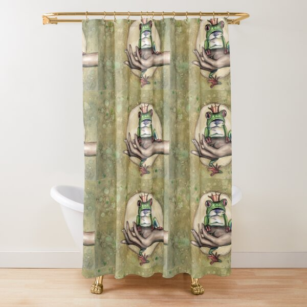Aussie frog Prince Shower Curtain