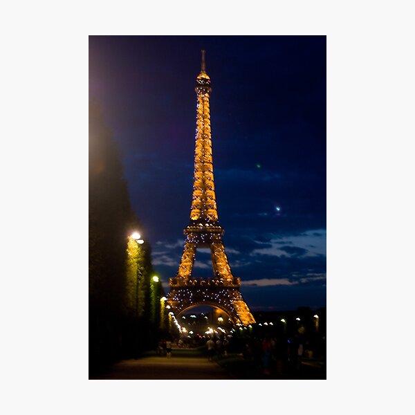 Eiffel Tower, Paris at Night Photographic Print