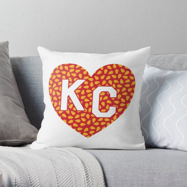 Arrowhead KC Heart Throw Pillow