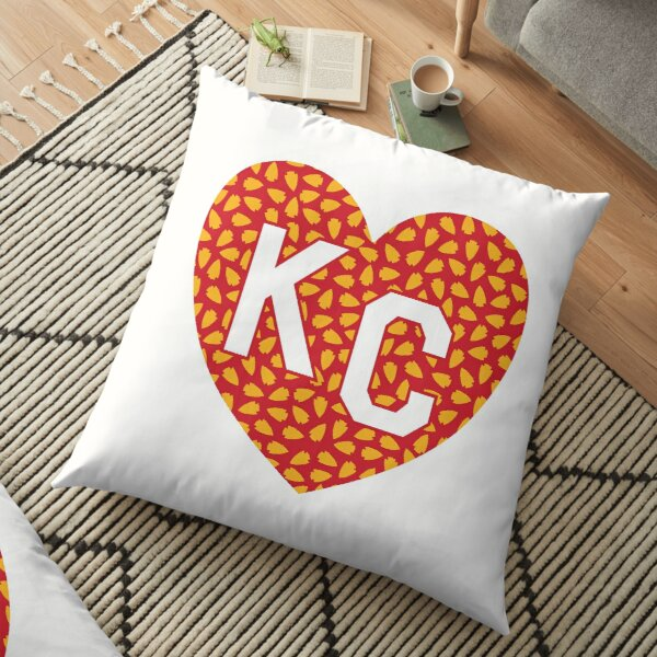 Arrowhead KC Heart Floor Pillow
