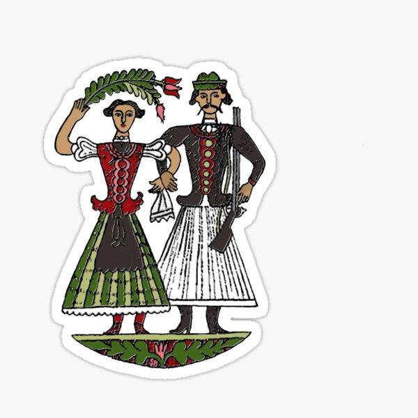 Hungarian Folkart Couple Sticker