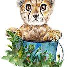 Gepard Junges Aquarell von AnnaShell