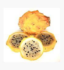 Yellow Pitahaya Slices Photographic Print