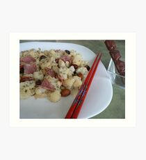 vege with sausage Chinese dish- healthy food:) Art Print