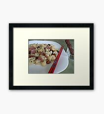 vege with sausage Chinese dish- healthy food:) Framed Print