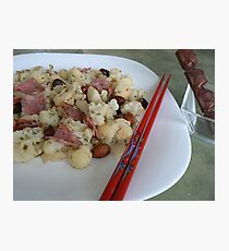 vege with sausage Chinese dish- healthy food:) Photographic Print