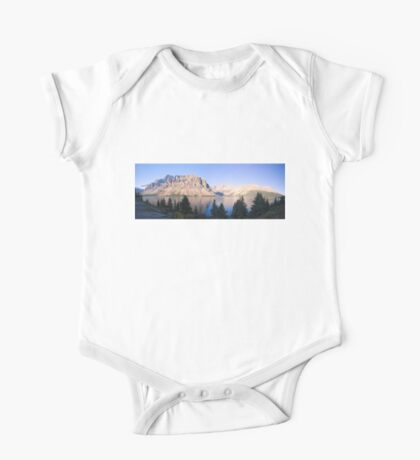 Crow Mountain, Crow Glacier and Bow Lake Panorama Kids Clothes