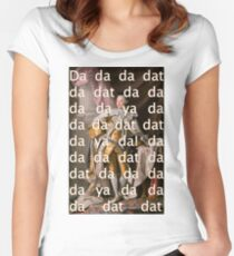 You'll be Back Hamilton King George III Da dat Women's Fitted Scoop T-Shirt
