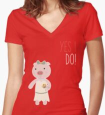Yes I Do! - Bride Fitted V-Neck T-Shirt
