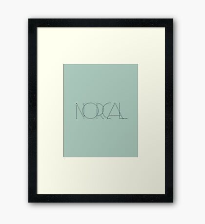 NorCal Framed Print