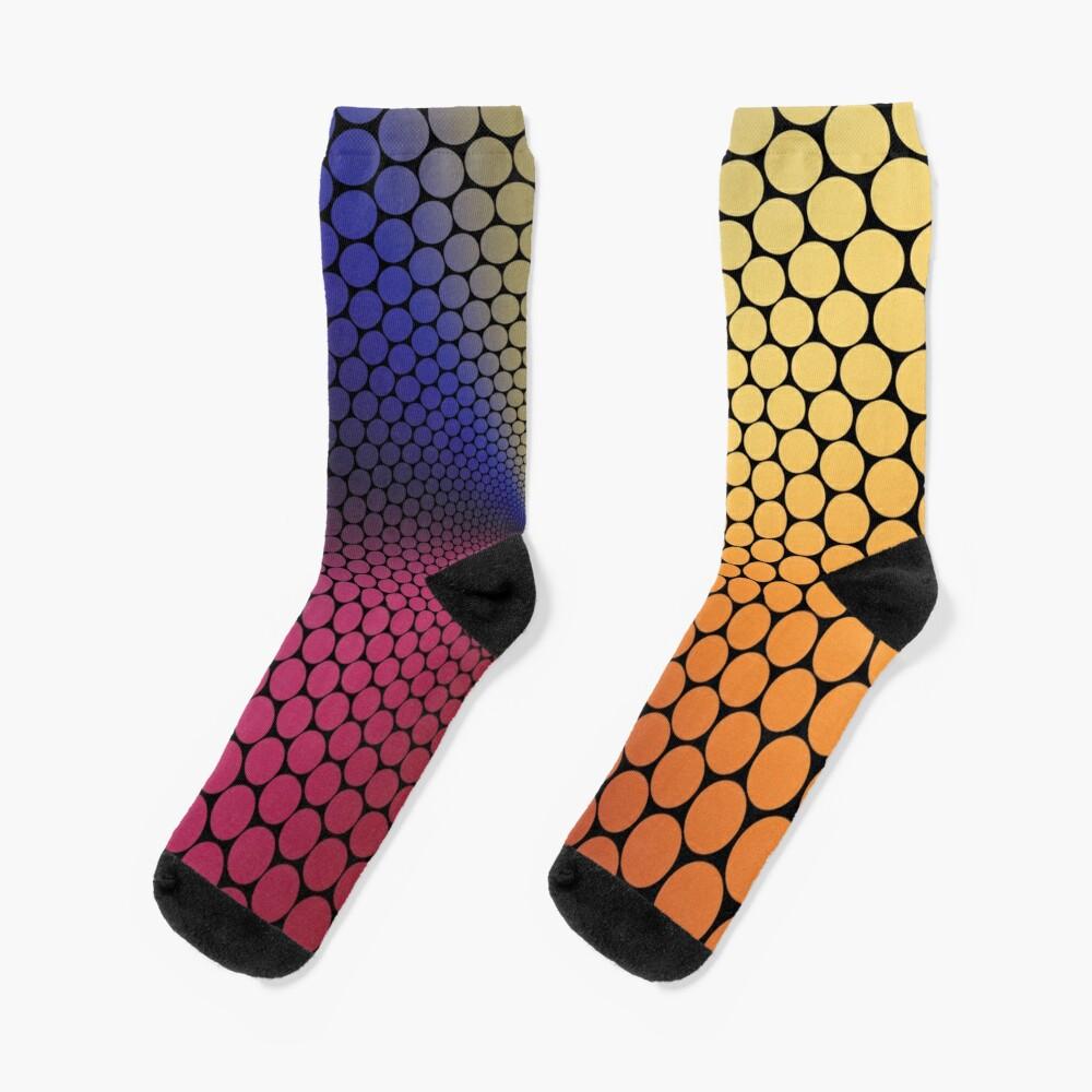 Optical Illusion Angle Gradient on Black Socks